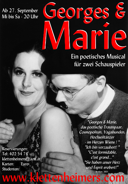 Georges & Marie - Plakat