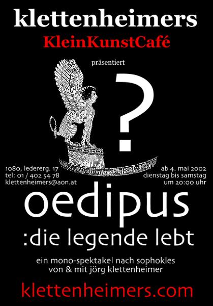 oedipus - Plakat