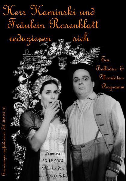Kaminski & Rosenblatt - Plakat